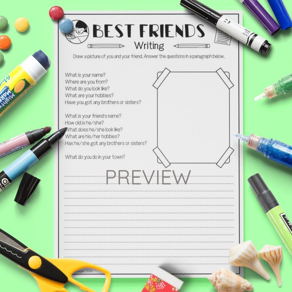 Best Friends Writing Activity With Images