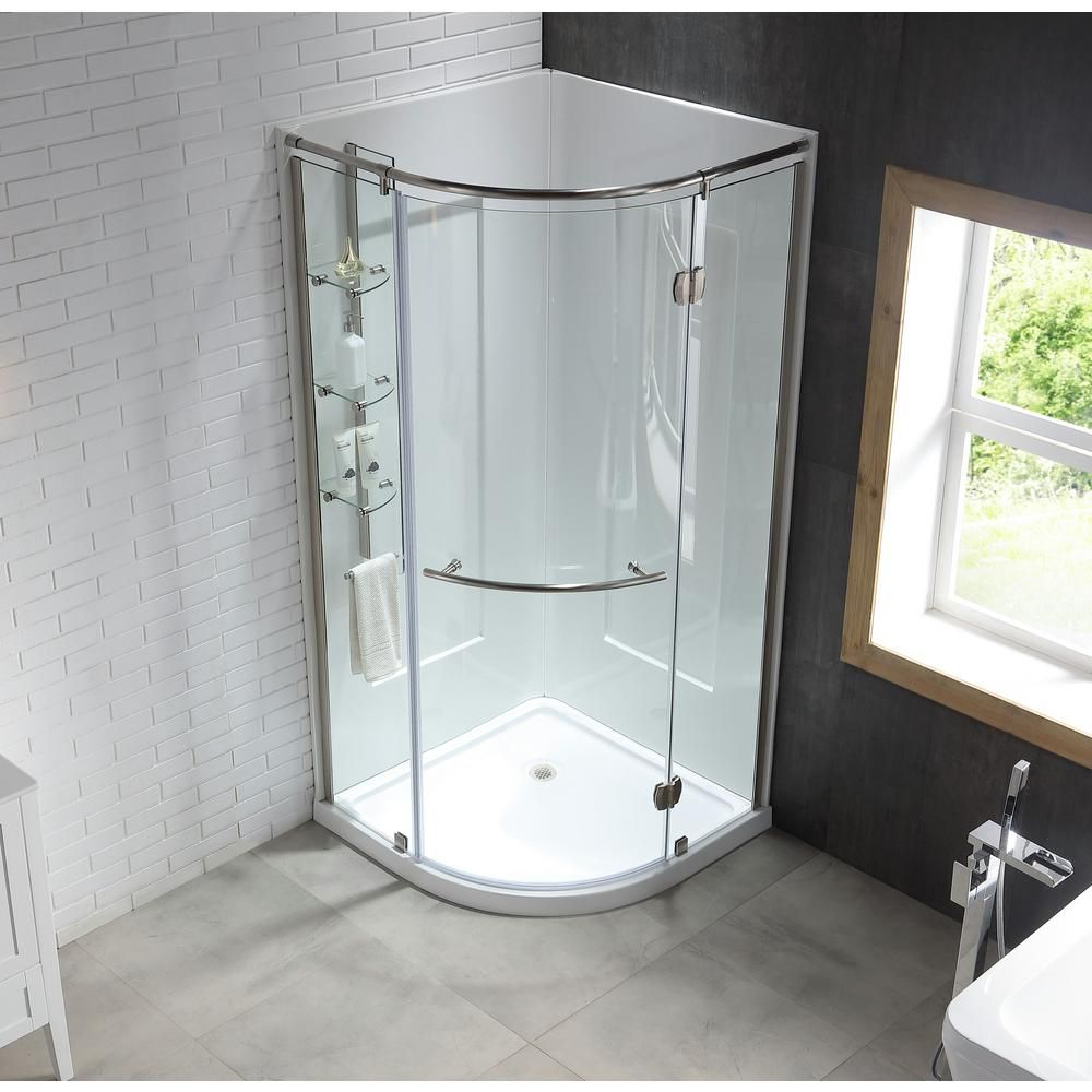 Ove Decors Amber 38 In X 38 In X 81 In Corner Shower Kit In