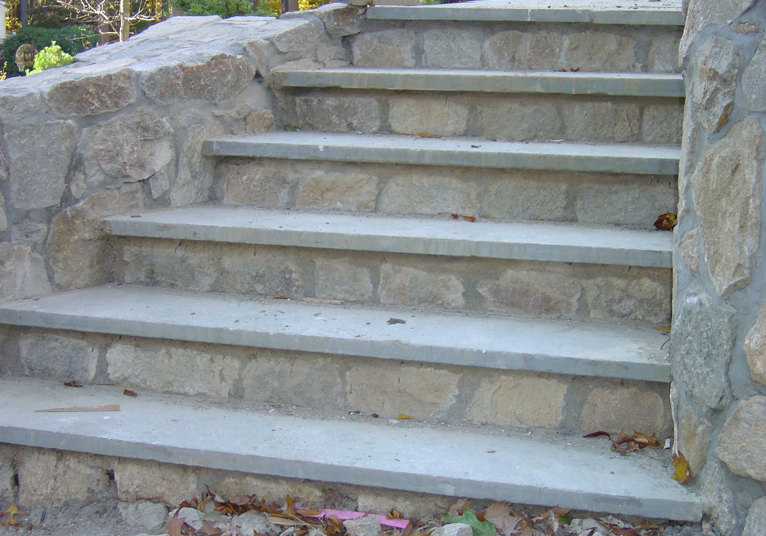 How to build steps with pavers - Chimney Cricket Stone Porch Steps Stone Pavers Brick Porch Steps