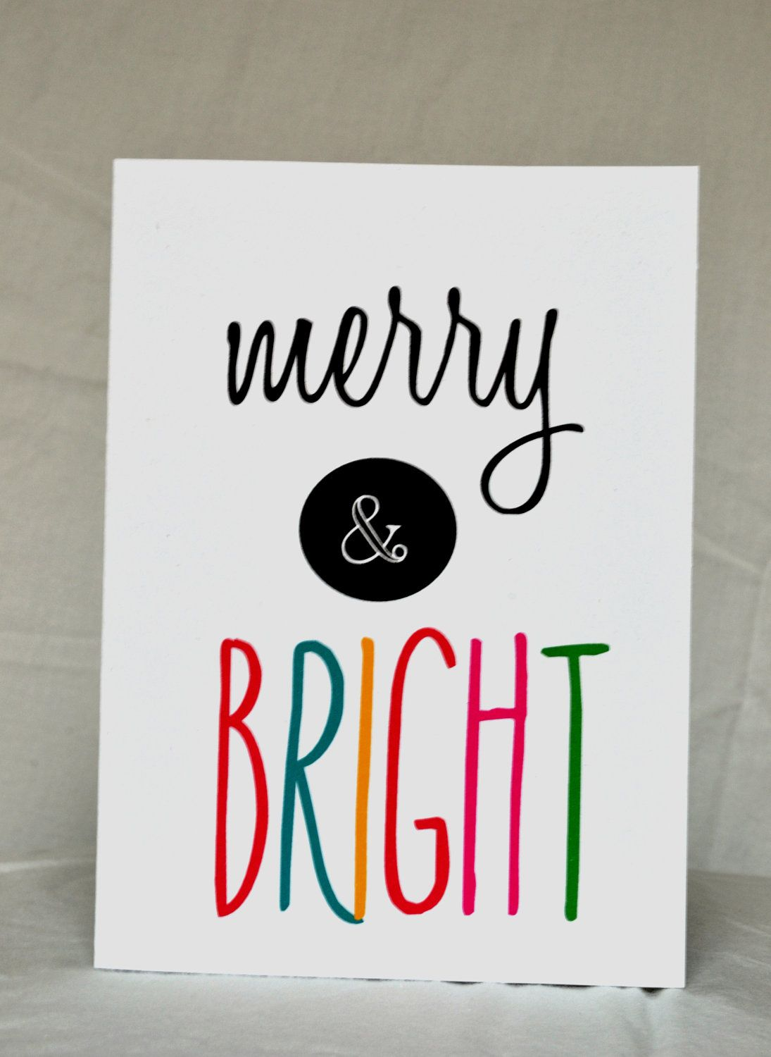 Greeting Cards - Merry and Bright - Christmas Card - Holiday Card ...