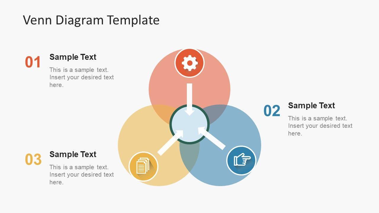 Simple Flat Venn Diagram Powerpoint Template Venn Diagram