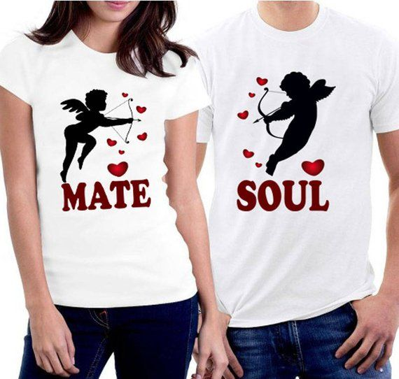 41f0b98424 Couple Shirts Soul Mate Shirt Valentine's Day Shirts Love T-Shirts He/She's  My Better Half Couple T-