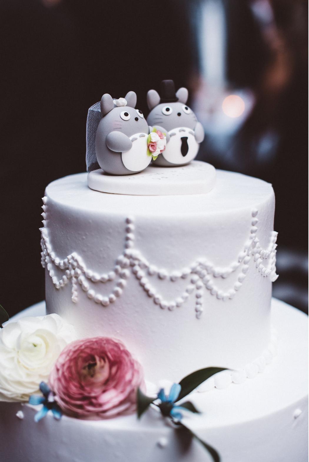 Totoro wedding cake topper #realwedding #weddingceremony ...