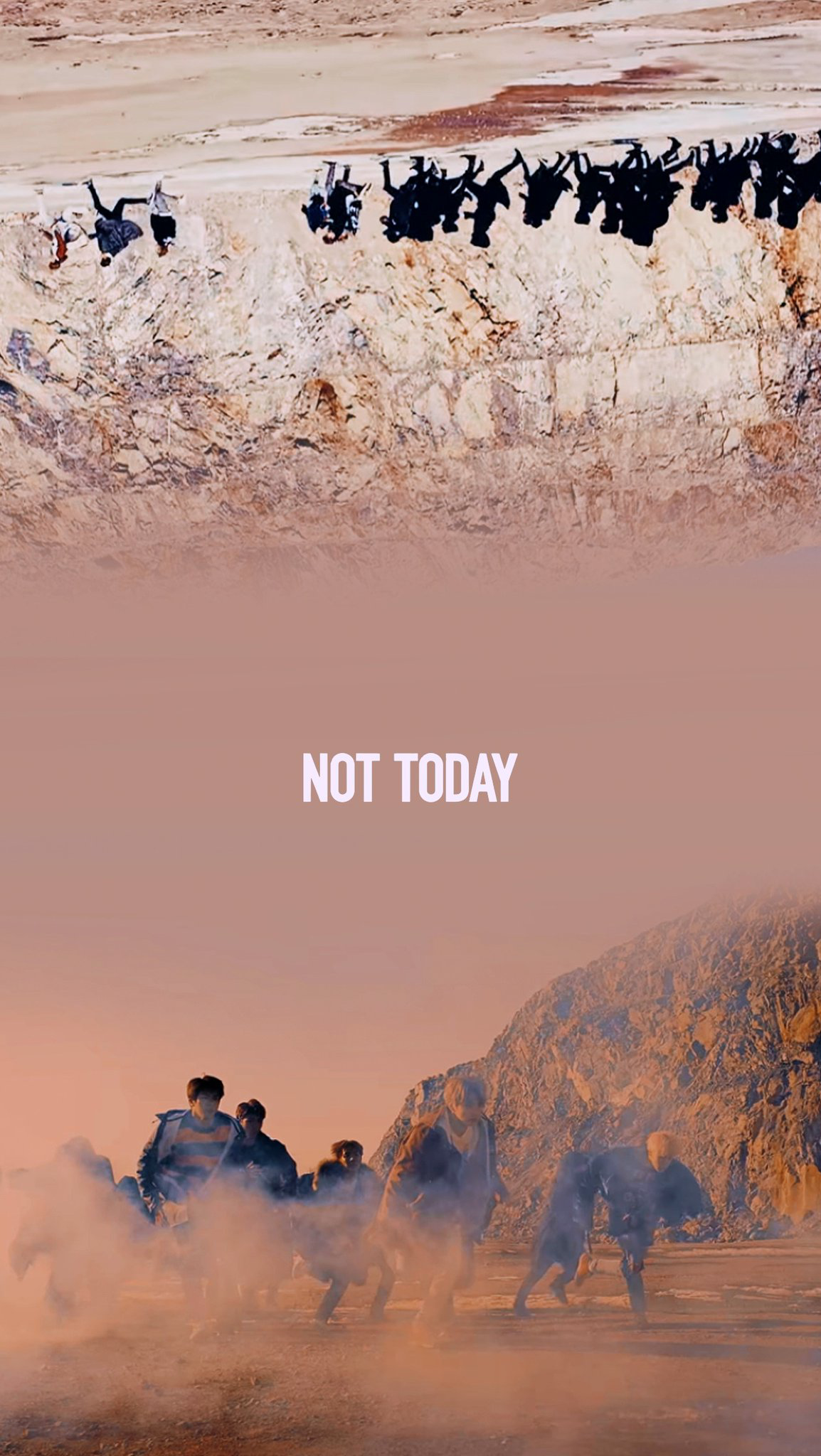 Bts bts wallpapers not today you never walk alone for Wallpaper walk