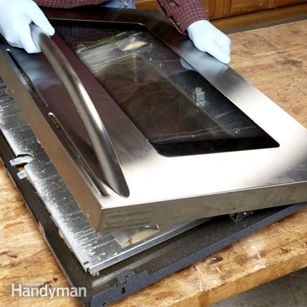 how to clean oven glass in between
