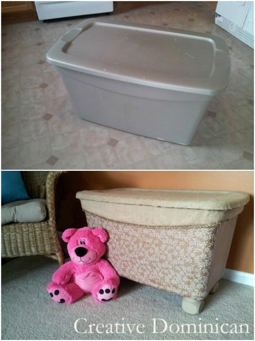 Beautifying Toy Storage Bench Decoratively