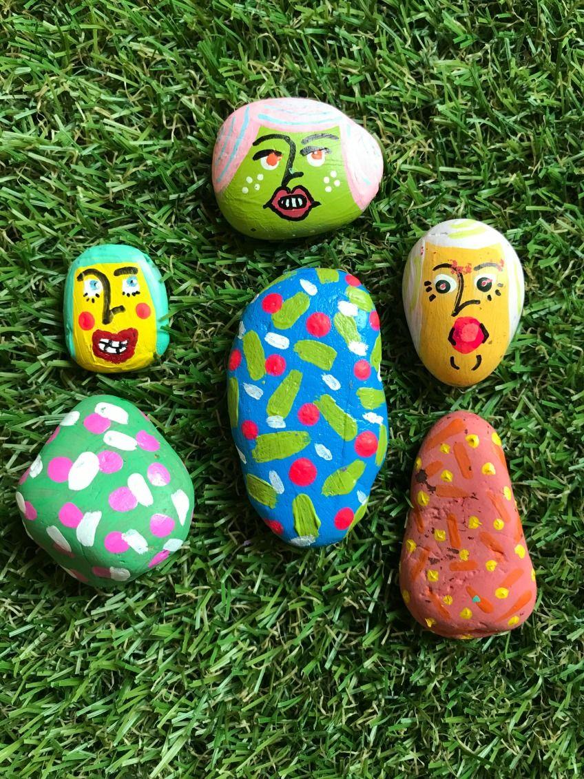 Diy painted rock paper dolls with jennifer perkins