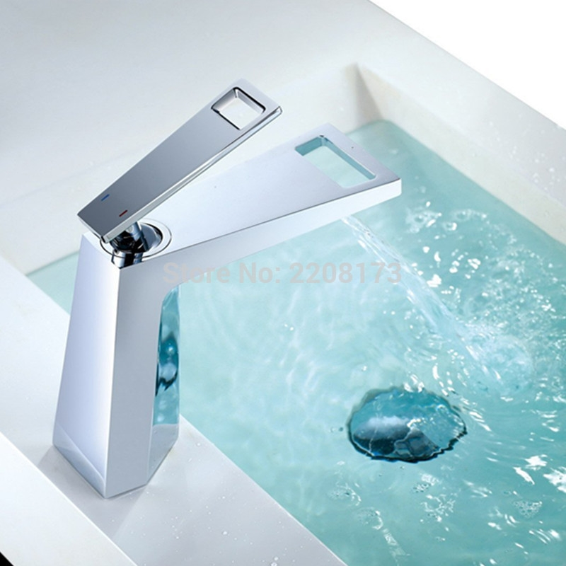 The Copper Cold Waterfall Faucet Art Basin Wash Washroom For Toilet