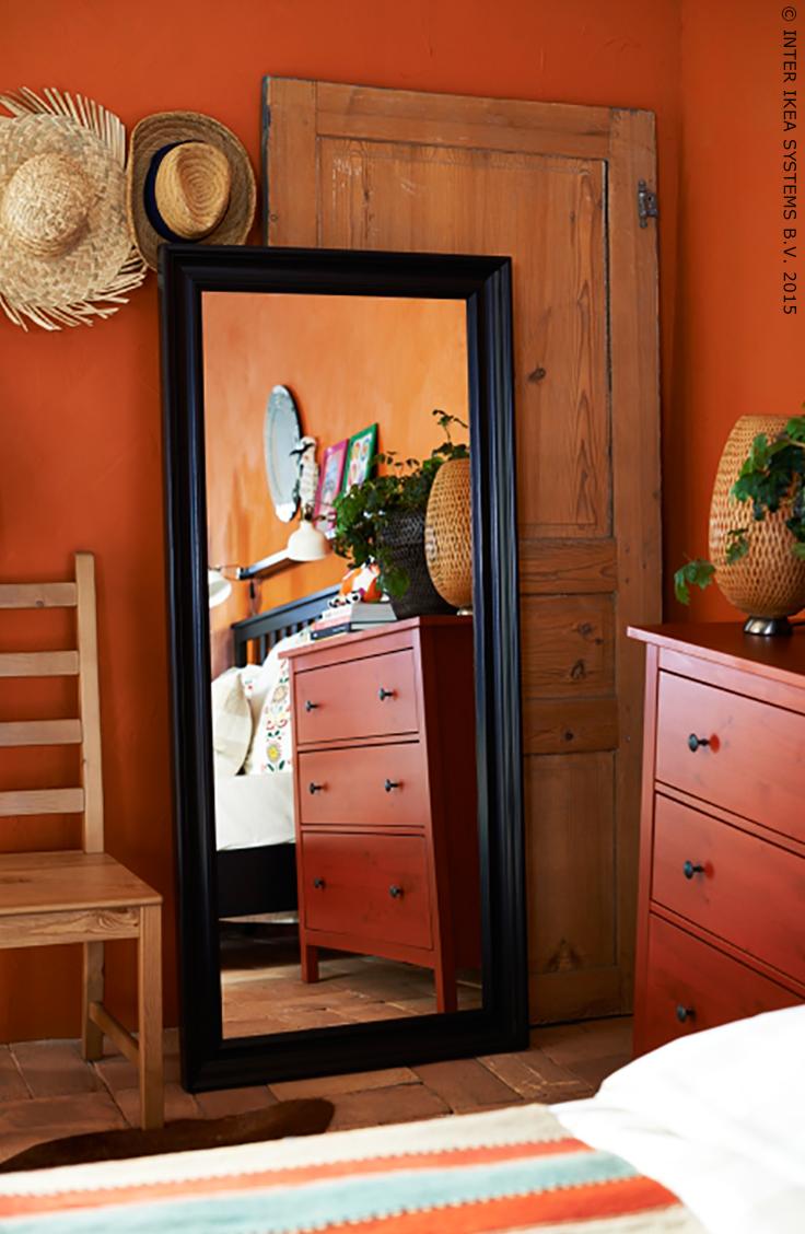 hemnes spiegel, zwartbruin   warm, products and van, Badkamer