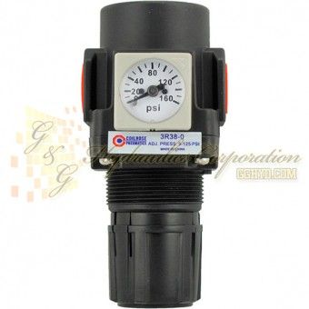 Part 29 3r14 0 Modular Air Pressure Regulator 1 4 Npt Port Size 1 8 Npt Gauge Port 0 75 Lbs Compact Size Regulators Frl S Gauges Mini