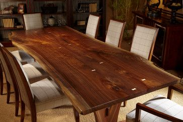 Harden Live Edge Solid Wood Table Craftsman Dining Tables