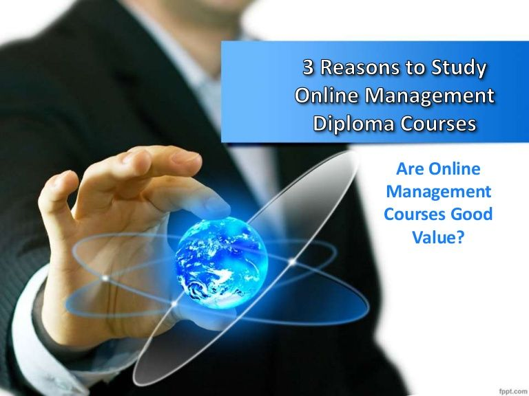 Click on the given link to know the top reasons why one should opt online management diploma courses.