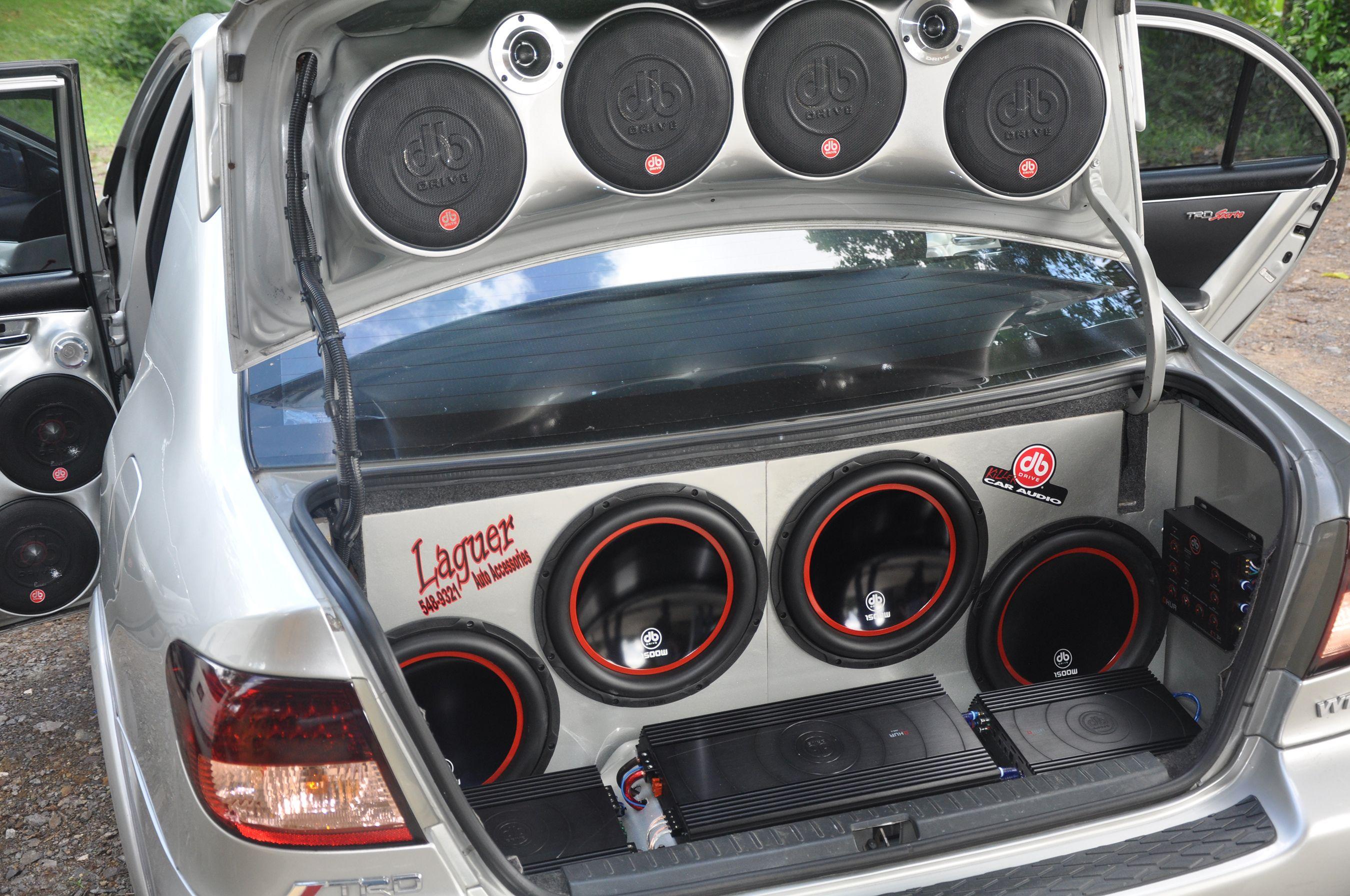 Db drive killer car audio instillation
