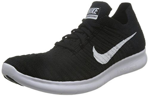 Nike Mens Free Run Flyknit Running Shoes Black White 8310 Https Www Dp B01cdpe910 Ref Cm Nike Free Flyknit Nike Shoes Women White Running Shoes