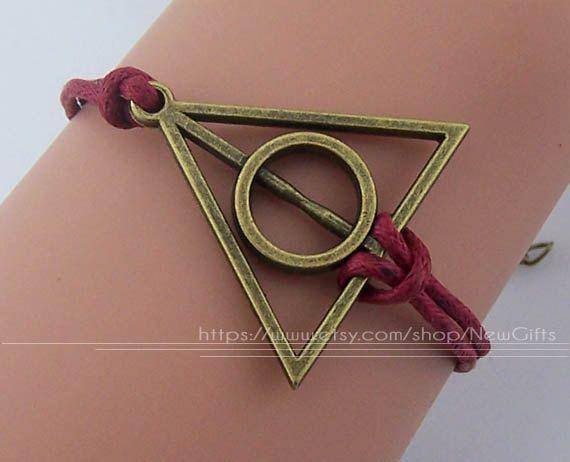 Harry potter bracelet bronze deathly hallows charm by NewGifts, $0.99