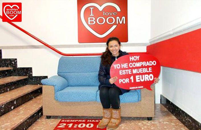 Ayer lunes mar a m i se compr por solo 1 euro este sof 2 plazas en nuestra tienda de - Muebles boom 1 euro ...