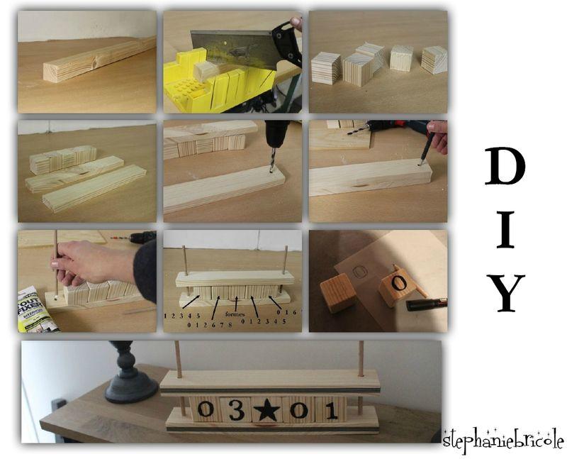 Diy un calendrier perpétuel en bois stéphanie bricole pdf tuto ici https