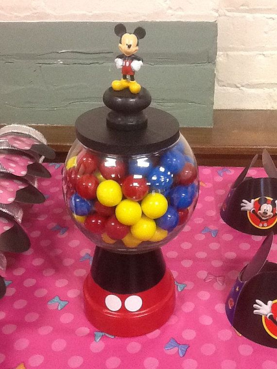 mickey mouse gumball machines centerpieces birthday party 1st birthday mickey baby shower cake candy table display