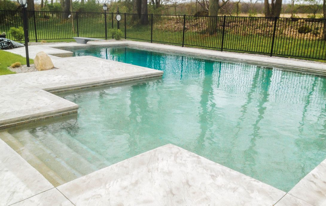 Image result for inground concrete rectangular swimming pool ...