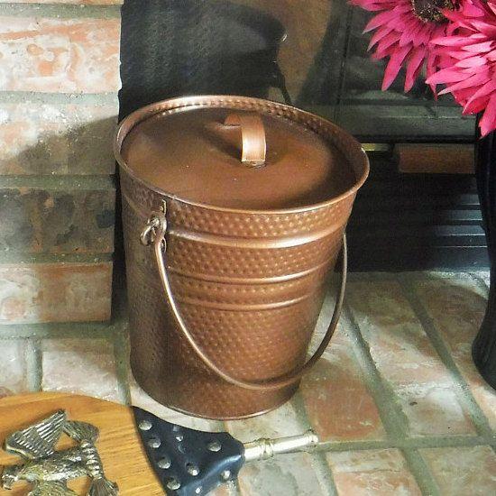 Fireplace Bucket And Ash Shovel Coal Bucket With Shovel Ash Bucket With Lid And Shovel Copper Colored Fireplace Ash B Fireplace Set Bucket With Lid Handmade