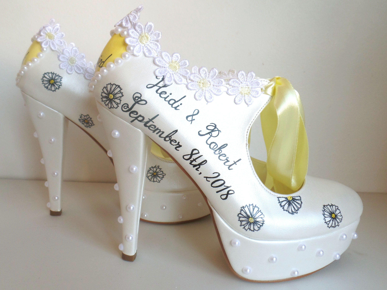 Custom Wedding Shoes for Bride Yellow