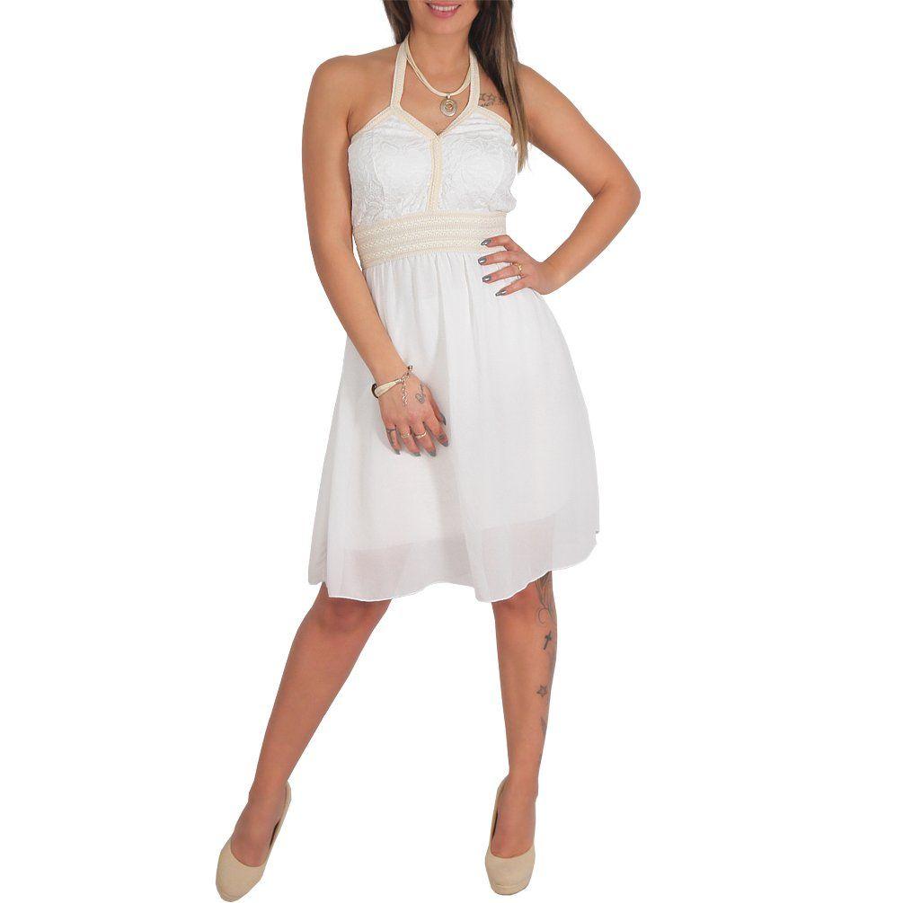 Shoppen Sie Neckholder Bandeau Kordel Mini Kleid Spitze ...