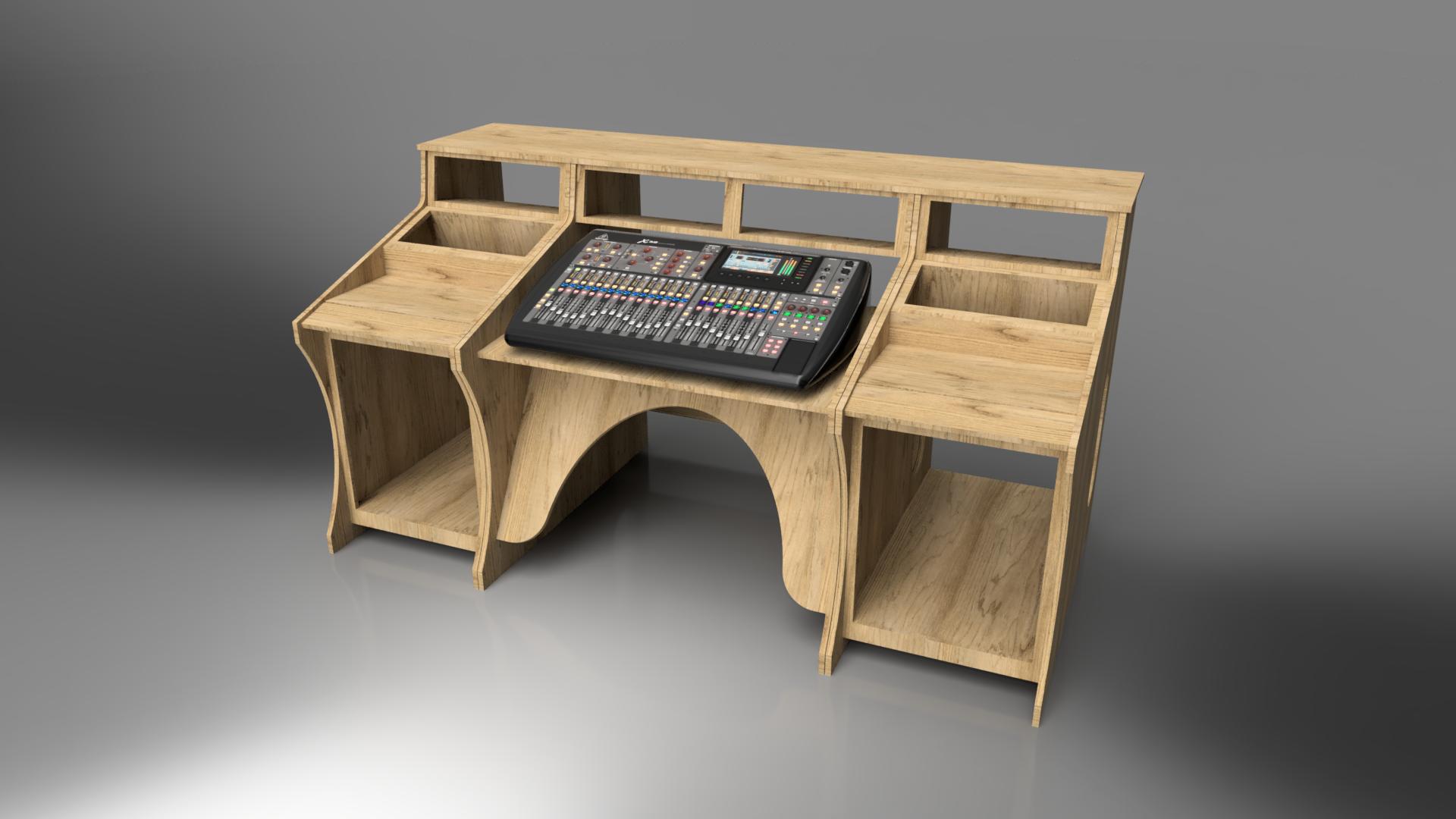 Meuble Pour X32 Type Studio Studios D Enregistrement A Domicile Bureau Studio Salle De Musique