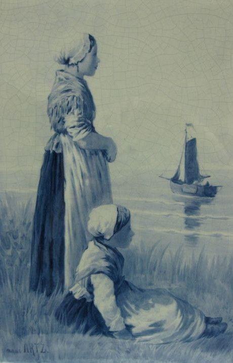 De Porceleyne Fles - ROYAL DELFT - TILE - 1894 - D.A.C. Artz
