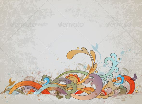 Realistic Graphic DOWNLOAD (.ai, .psd) :: http://jquery-css.de/pinterest-itmid-1003205375i.html ... Retro Background ...  background, bird, blot, butterfly, creative, curl, decorative, design, floral, grunge, old, ornament, retro, scratch, spray, swirl, vector, vintage, wave  ... Realistic Photo Graphic Print Obejct Business Web Elements Illustration Design Templates ... DOWNLOAD :: http://jquery-css.de/pinterest-itmid-1003205375i.html