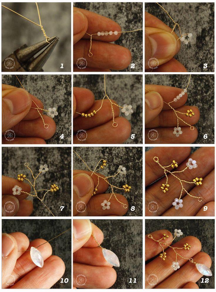 Grundlagen der Schmuckherstellung 7 - Drei Möglichkeiten, Perlenblumen herzustellen  # #flowerfabric