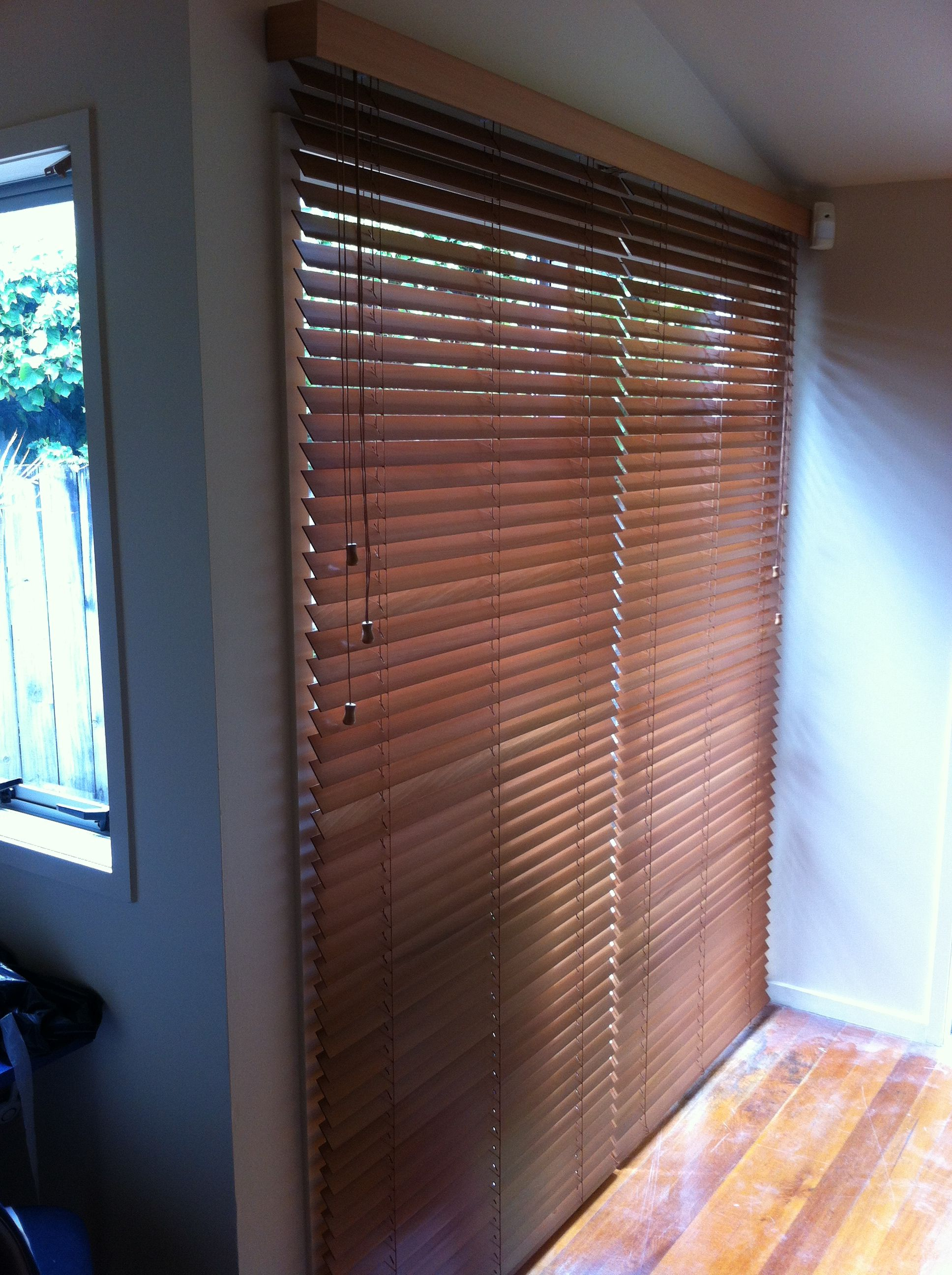 Outside mounted Wooden Venetians for when window frames are shallow