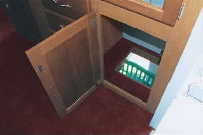 Laundry Chute Concealed In Your Cabinet Work. Bathroom Or Walk In Closet? I