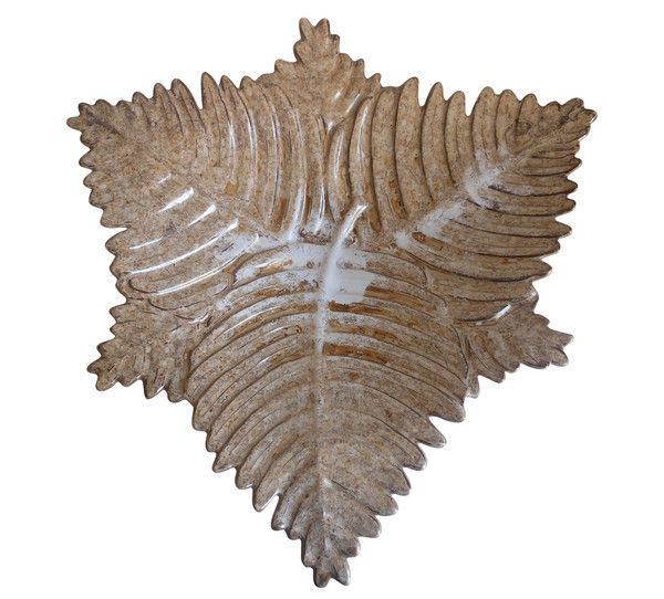 Gold Fern Ceramic Tray