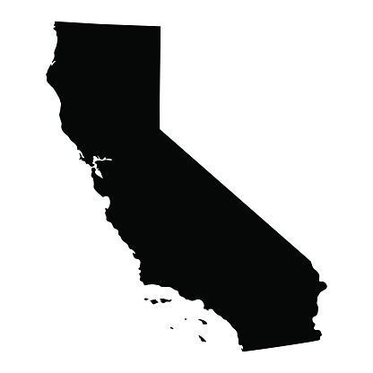 Download map of the U.S. state of California vector art ...