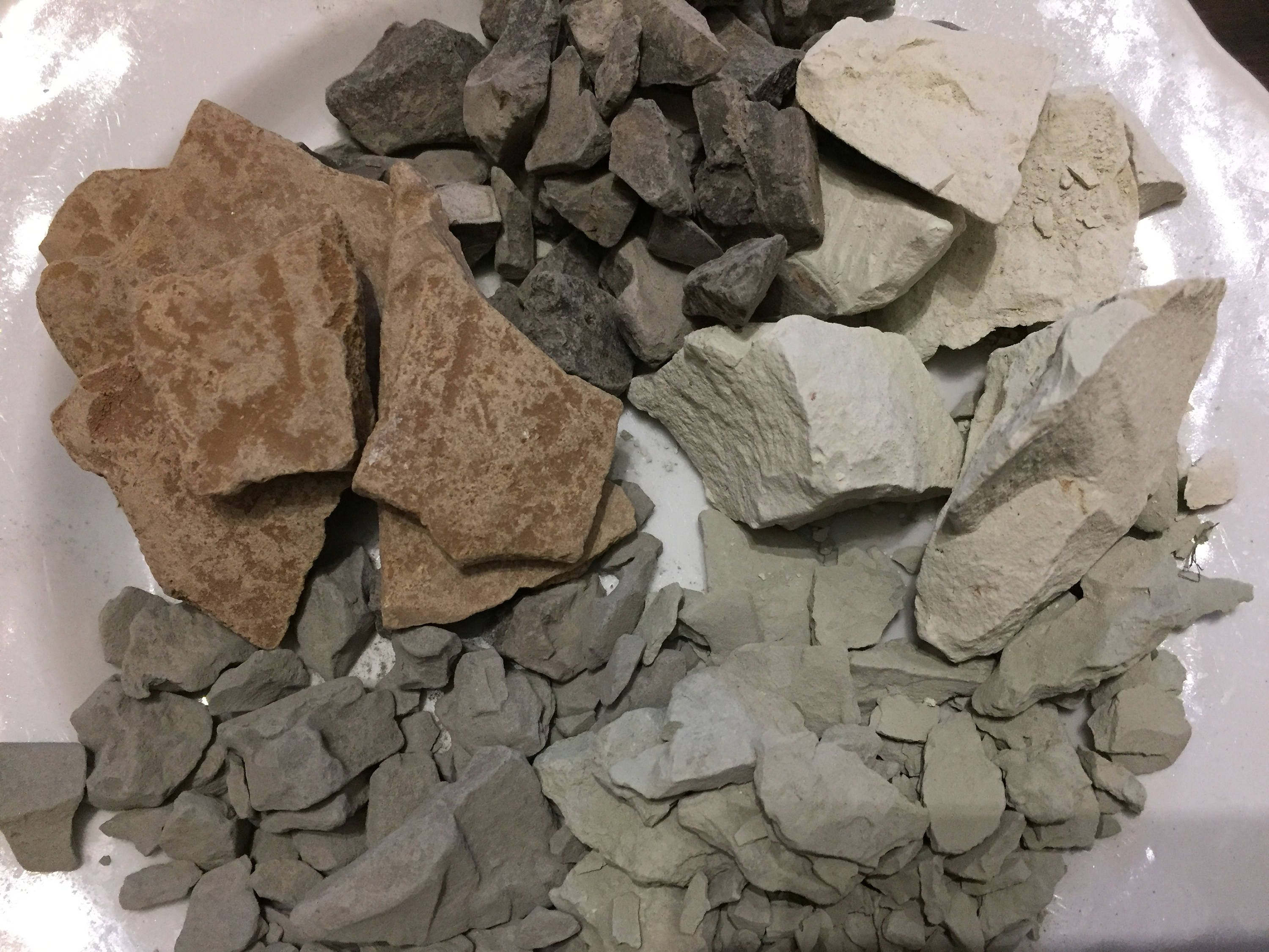 20 species Set of samples of ALL TYPES edible natural CHALK /& CLAY chunks for eating Total 2 lb // 900 g