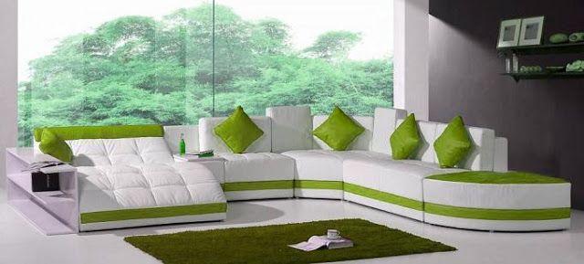 modelos de sillones sof verde para sala by artesydisenos