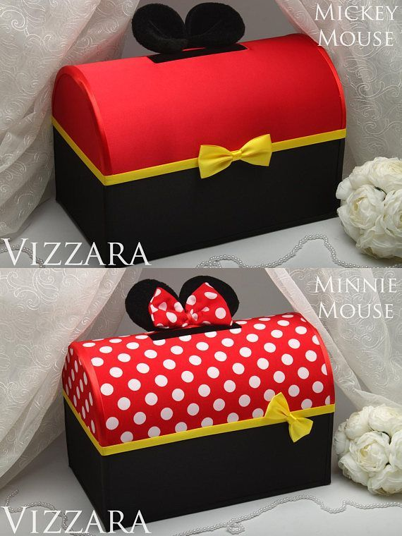 Birthday Card Box Mickey Valentine Card Box Wedding Money Box Gift Disney Wedding Box Minnie Mouse Wedd Mickey Mouse Gifts Money Box Wedding Valentine Card Box