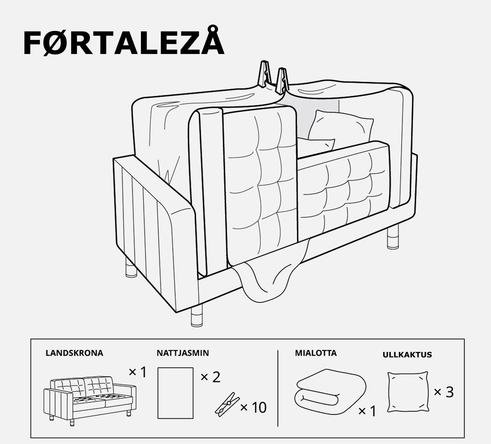 Ikea te enseña a crear refugios, tipis y cabañas para niños