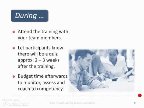 Integrating Training into Daily Workflow