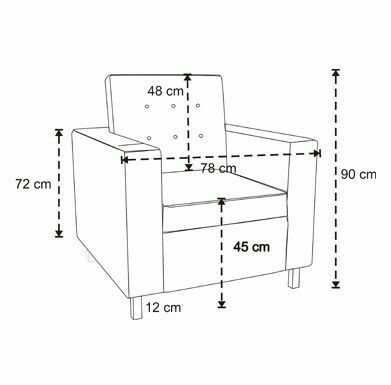 Standard sofa dimensions in mm for Sofa 75 cm tief