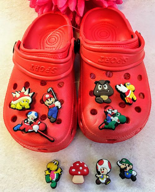 release date: badc9 dbb14 1 Set Complete Crocs Shoes Kids And 6 Super Mario by ...