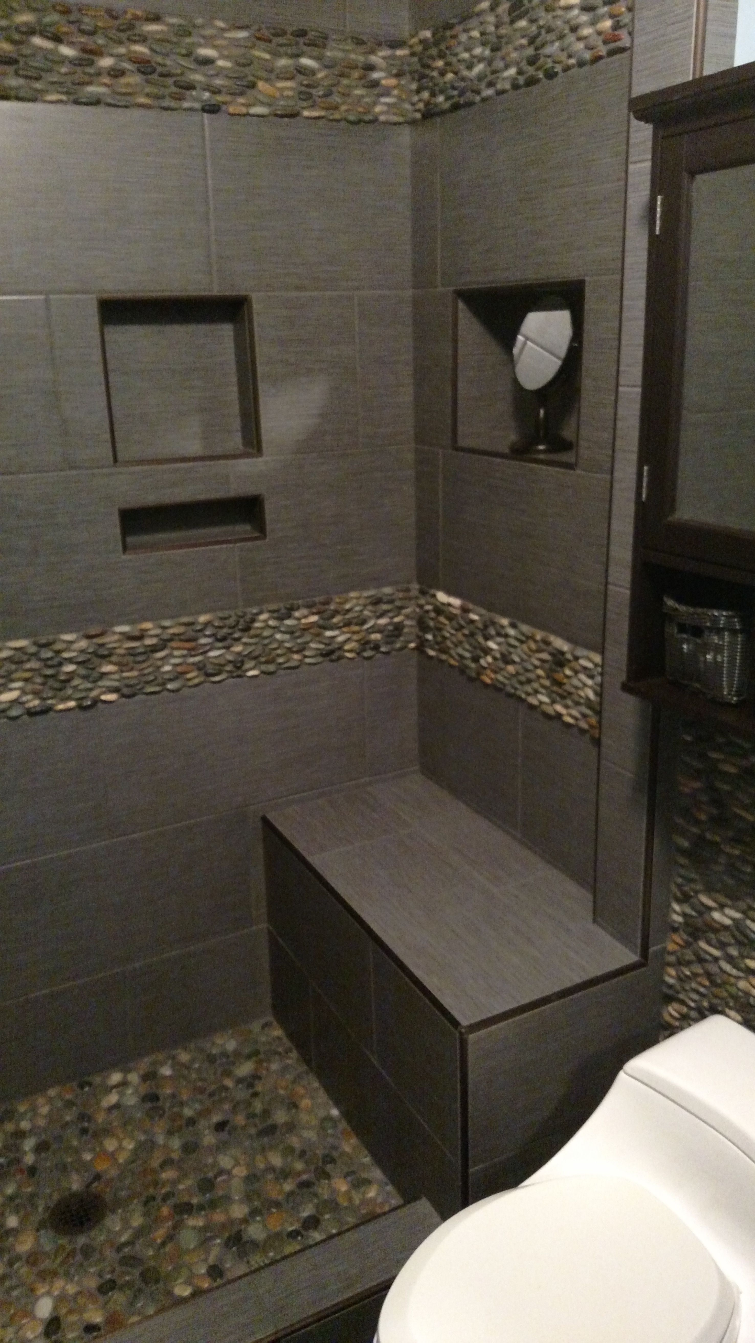 Original Its Very Easy To Picture Pebble Tile In A California Bathroom The Organic  Pieced Together And Bonded Onto A Mesh Backing To Produce Interlocking Pebble Tiles And Borders Of Various Sizes When Installed, The Result Is A Completely