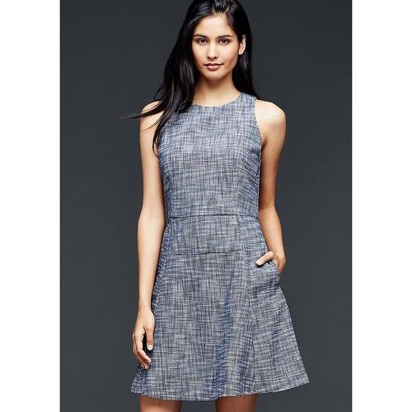 f13c2895779 Gap Women Fit   Flare Flute Dress ( 80) ❤ liked on Polyvore featuring  dresses