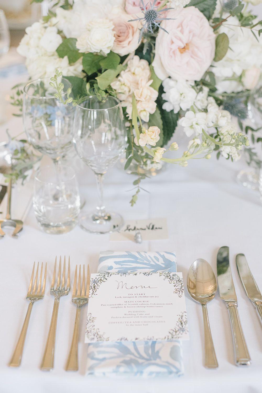 elegant blue white wedding at prestwold hall loughborough rh pinterest com