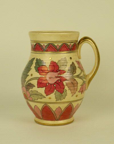 A Charlotte Rhead For Crown Ducal Single Handled Vase Post 1940