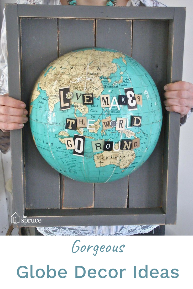 7 Ways to Decorate With Vintage Globes