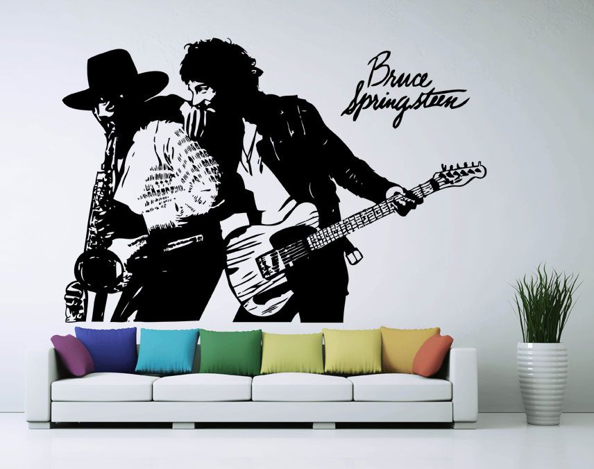 Bruce Springsteen Born To Run Sticker Vinyl Wall Decal Wd 0400 Description The Decals Can Be Applied On All S Vinyl Wall Decals Vinyl Sticker Born To Run