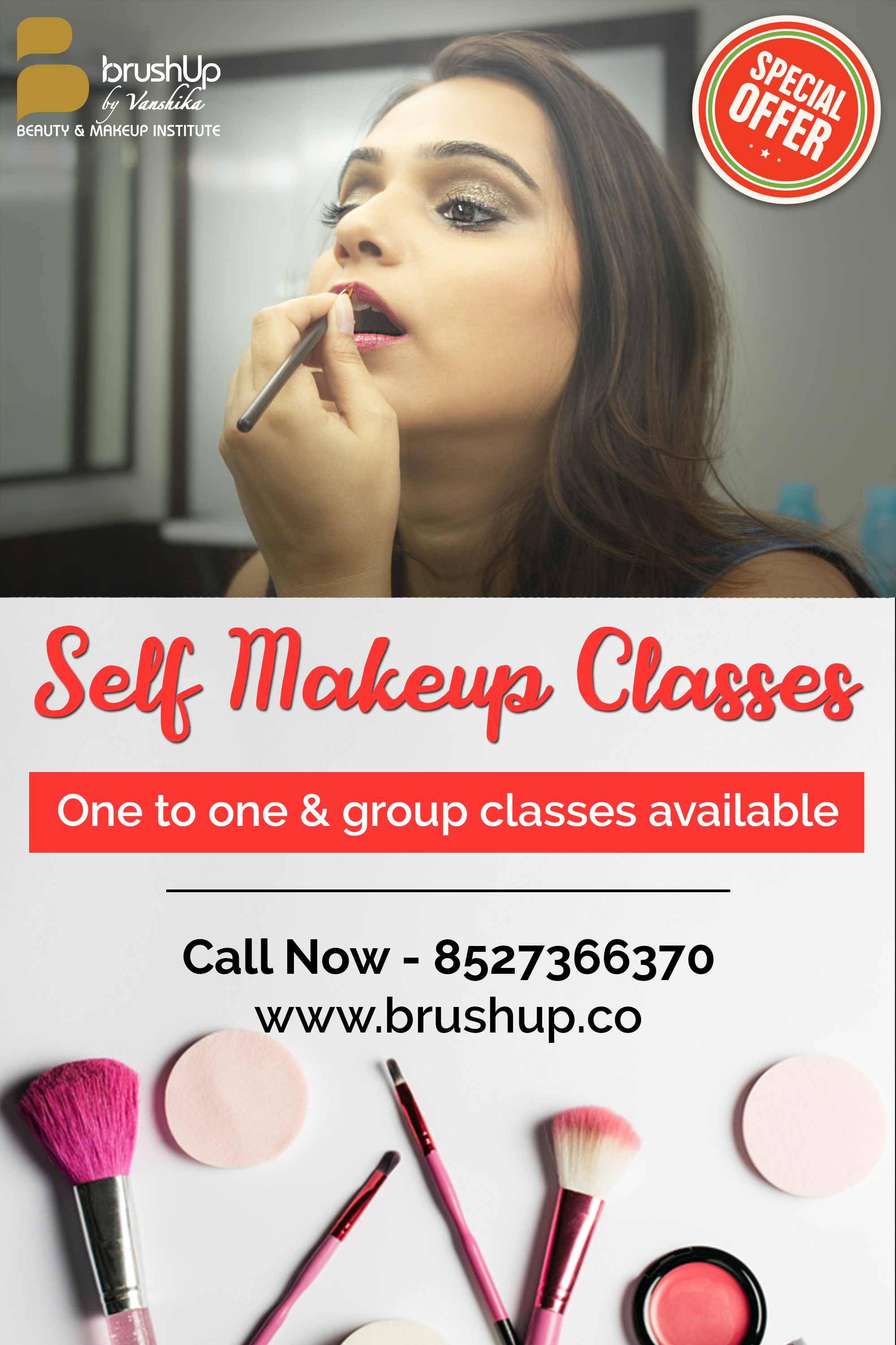 Best Self Makeup Classes Gurgaon BrushUp Grooming Course