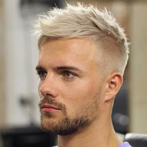 Hi Side Fade Bleached Top Hairstyles For Thin Hair Bleached