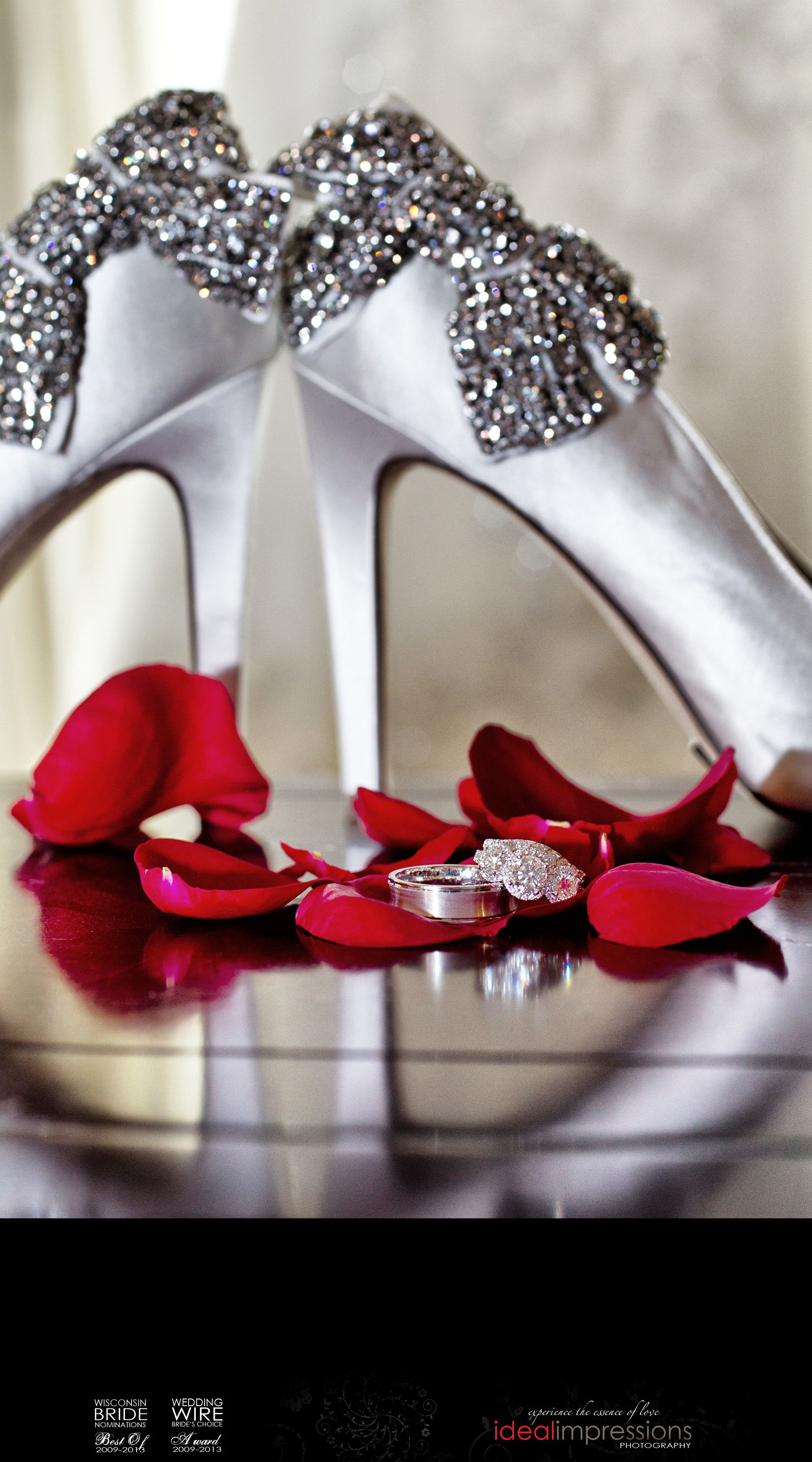 Shoes roses and diamonds